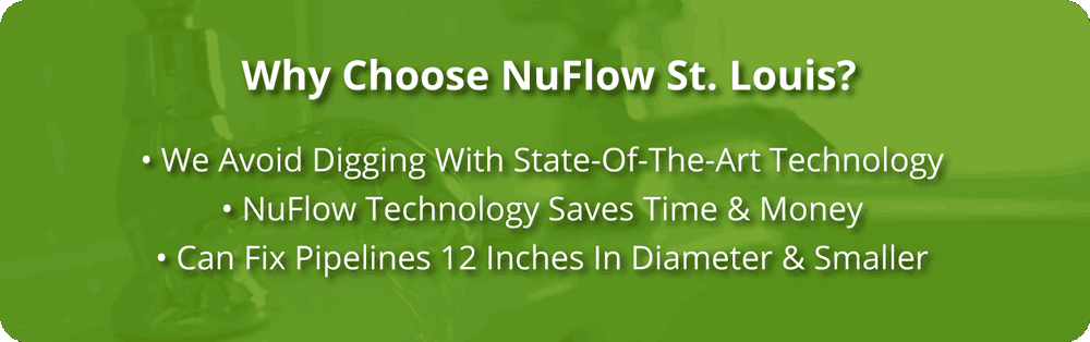 nuflow st louis plumbing Sewer Pipe Lining in St. Louis, Missouri
